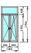 пример пластикового окна для дома сталинской постройки