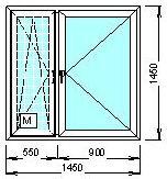 пример пластикового окна